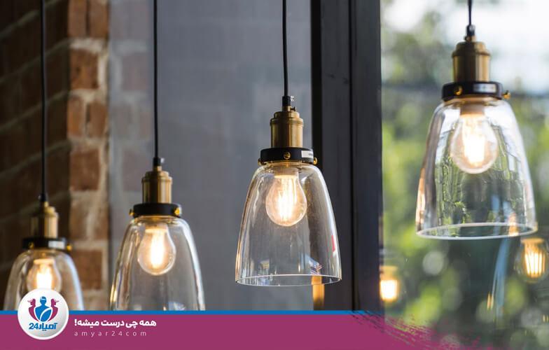 لوستر روشنایی منزل خانه-آمیار24